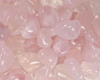 Bulk 1lb Tumbled Rose Quartz Crystal Gemstones, Bulk Wholesale Pink Quartz Tumbled Stones, Tumbled Gemstones, 1 Pound Gemstone Lot Wholesale