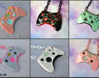 xbox controllers necklace geeky,gamer, Soft Grunge, kawaii,soft grunge, lolita,harajuku,fairy kei