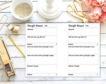 Personal Rings  - Thought Record - Planner Insert