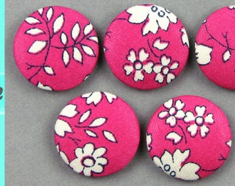 Diameter 18 mm - Liberty Capel P - fabric covered buttons - know