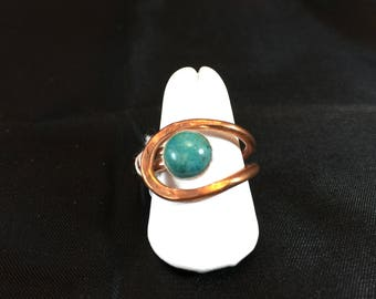 Ring- Copper and Turquoise