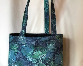 """Floral-Batik """"Over the Shoulder Bag"""""""