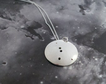 Silver Cancer pendant: The constellation of Cancer on a sterling silver pendant