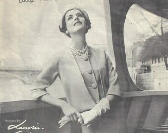 1958 Vintage VOGUE Sewing Pattern B34 DRESS (1171) By Jeanne Lanvin-Castillo Vogue 1422