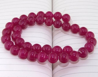 """strand Round  Jade Beads ----- 10mm ----- about 38Pieces ----- gemstone beads--- 15"""" in length"""