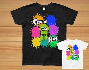 Splatoon Kids Shirt/Splatoon 2 Shirt/Splatoon Kids Clothes/Splatoon 2/Squid Kid/Splatoon Squid/Splatoon Shirt/Nintendo Shirt/Gamer Kid