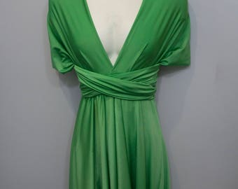 Apple Green Long Convertible Dress / Custom size / Maternity & Plus size included
