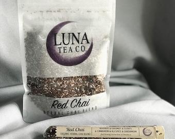 Chai Tea - Herbal Tea - Loose Leaf Tea - Organic Tea - Caffeine Free Tea - Rooibos Tea - Red Bush Tea - Coconut Chai - Decaf Tea - RED CHAI