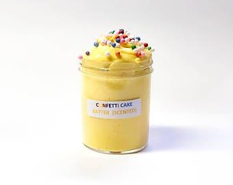 Confetti Cake Batter Scented Slime