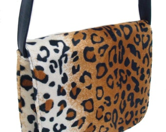 US Handmade Animal Print Leopard Pattern Messenger Bag Pattern  Shoulder Bag Purse,  New