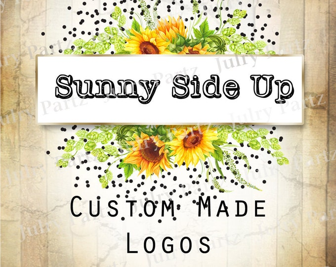 LOGO in Sunny Side Up•Premade Logo•Jewelry Card Logo•Flower Logo•Custom Logo•Shop Logo