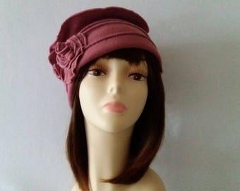 "Fleece colors Hat / Creation handcrafted ""Roseline"""
