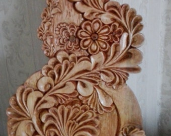 """Wood carving. """"Floral lace""""."""