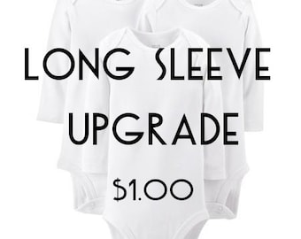 Add long sleeves to any white baby bodysuit