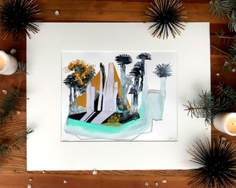 Angeles - Archival print of original painting | abstract botanical cityscape