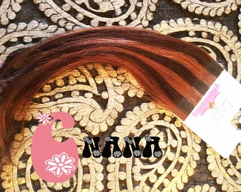 "Brown and copper, extension hair band sticker human hair Extensions, hair Extensions, 15 "", skin/glue"