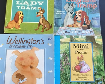 Vintage children's books, scholastic, Troll, lady in the tramp, Wellington, ( 4 )