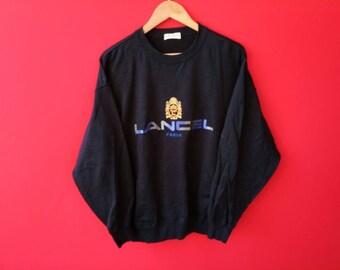 vintage Lancel paris spellout  sweatshirt large mens size