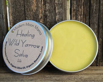 Organic Healing Yarrow Salve // Wild-harvested // Wild-crafted // Hand-crafted // First-Aid // All Natural // Ethical // Sustainable