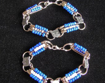 CATS safety pin bracelets for UK Wildcat fans