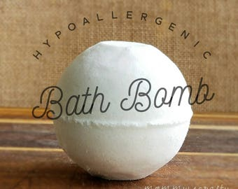 Hypoallergenic Bath Bomb | Fragrance Free Bath Bomb | Delicate Bath Bomb | Sensitive Skin Bath Bomb | Kid's Bath Bomb | Adults Bath Bomb