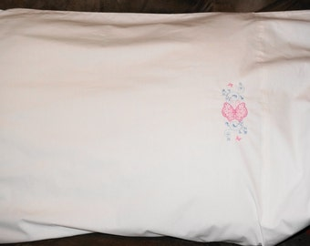 Embroidered Pillowcase - Made to Order