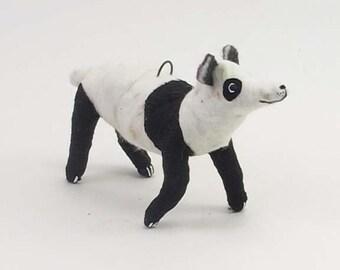 Vintage Style Spun Cotton Panda Bear Ornament/Figure (MADE TO ORDER)