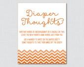 Orange Baby Shower Diaper...