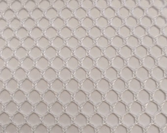 "Polyester Bag Mesh White, Hex Mesh Fabric, 60"" wide, sold by the yard"