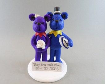 Custom Bear Wedding Cake Topper