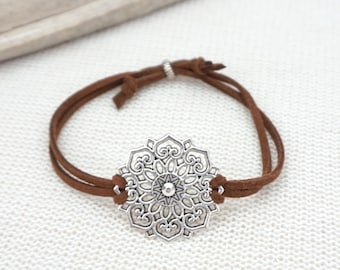 iconn beauty bracelet black mandala gold a gb en