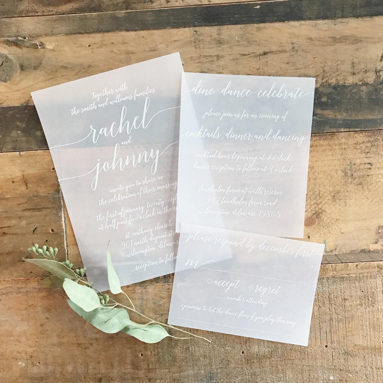 wedding invitation kits with vellum - 28 images - vellum wedding ...