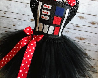 Darth Vader Inspired costume | tutu dress| costume| newborn- size 10 child listing