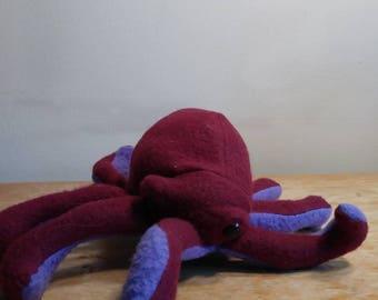 Dark red and purple octopus