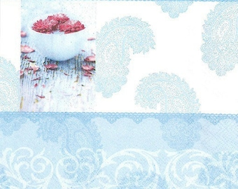 197 lotus flower napkin