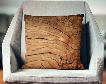 Wood Decor | Wood Home Decor | Log Cabin Decor | Log Cabin Pillow | Wood Gifts | Wood Pillow | Log Pillow | Unique Pillows | Unique Decor