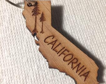 California redwood Key Chain