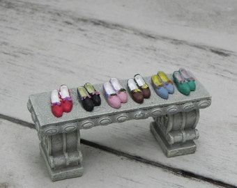 TINY Fairy Shoes ONE PAIR - fairy garden accessories - fairy slippers - dollhouse supplies - pixie shoes - miniature garden accessory