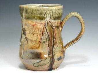 Ceramic coffee mug handmade, 14 oz mug, hand thrown Pottery Mug. Stoneware Mug  Coffee Cup,  Ceramic Coffee Mug, Pottery Handmade.