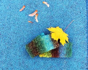 Hundertwasser Mittens - Crochet Fingerless Mittens - Multicolored Handmade Mitts - Ready To Ship