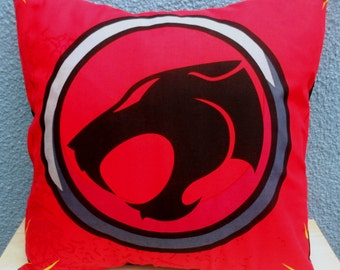 Thundercats Logo Fabric Cushion - handmade by Alien Couture
