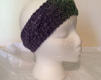 Hand Knitted Chunky Headband Cable Design