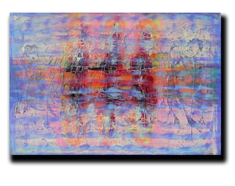"""SALE Art  Abstract painting Canvas painting Contemporary painting  Original painting Colorful Whirpool  24""""x36"""" Acrylic on Canvas fine art"""