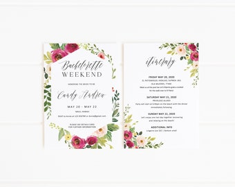 bachelorette invitations template