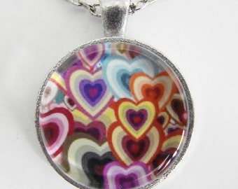 MANY HEARTS Necklace, Lots of love, Friendship token, For the young and young at heart