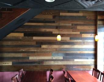 Reclaimed Wood Paneling - Prefinished - 10.50 per square foot FREE SHIPPING