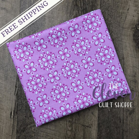 Yardage, Michael Miller Fabric, Project Dovetail, Pomegranate Seeds, Blossom, Pink, Floral, Geometric, Fuchsia, , Quilting