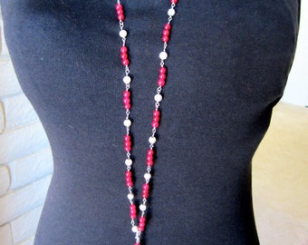 Adjustable hand linked Aventurine Chain with removable Tassel.