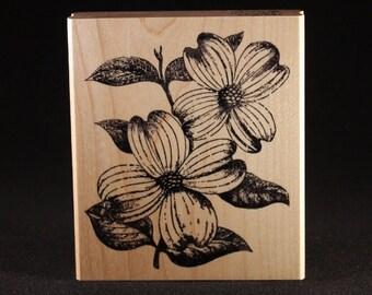 "Dogwood Rubber Art Stamp (3"" x 3.5"")"