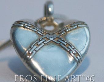 Herzanhänger Chain Heart - exklusiver  Silberanhänger, Erotikschmuck, BDSM, Chains, Erotik, Geschenk, Bondage, Velantin, Liebe, Fetisch